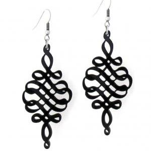 Baronyka Black Spiral Earrings - Sp..